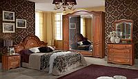 Рим 5П темная модульная мебель для спальни