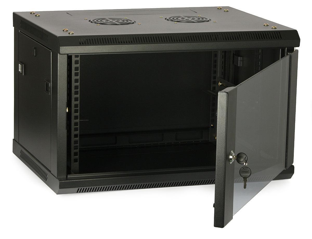 ITK Шкаф LINEA W 6U 600x450 мм дверь стекло, RAL9005