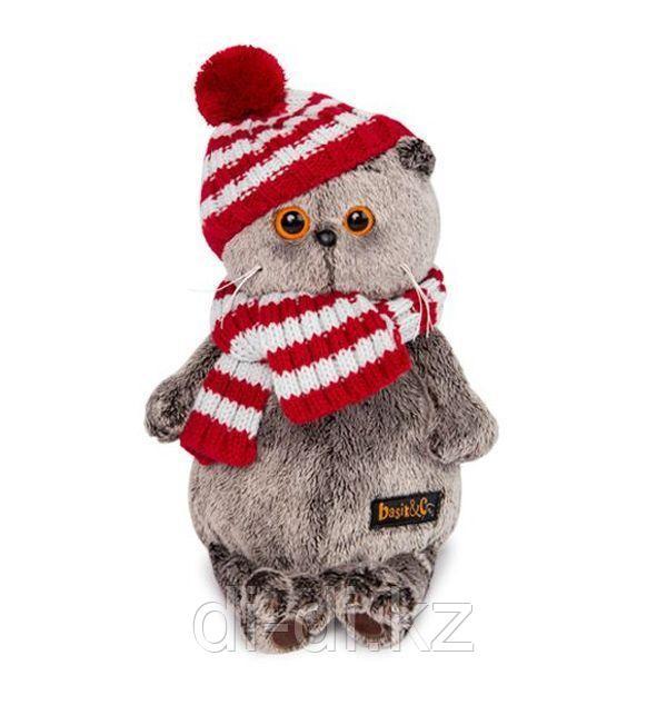 Басик в полосатой шапке с шарфом 19 см.