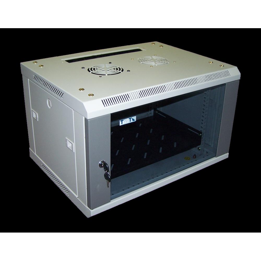 Шкаф настенный Pro, 9U 600x400, стеклянная дверь