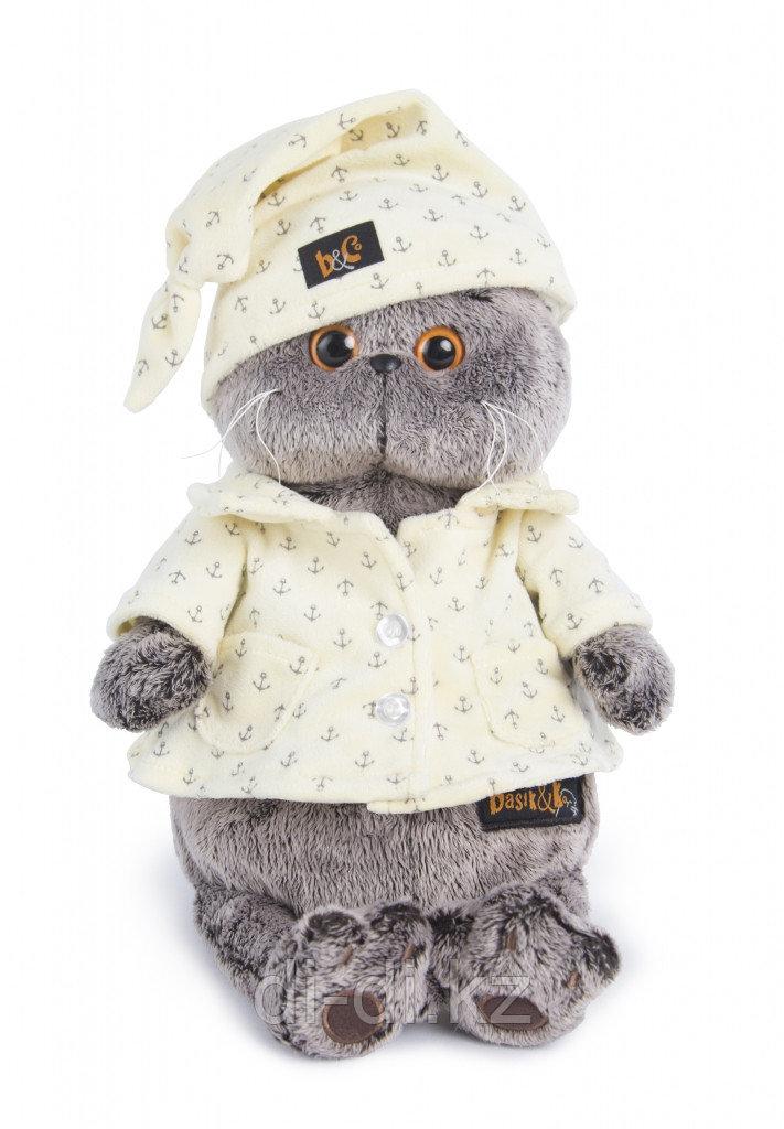 Мягкая игрушка Басик в пижаме 30см