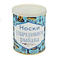"""Носки в банке """"Носки удачливого рыбака"""" (мужские, цвет черный)"""
