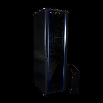 """Шкаф напольный 19"""" 27U, 600x800, двери стекло"""