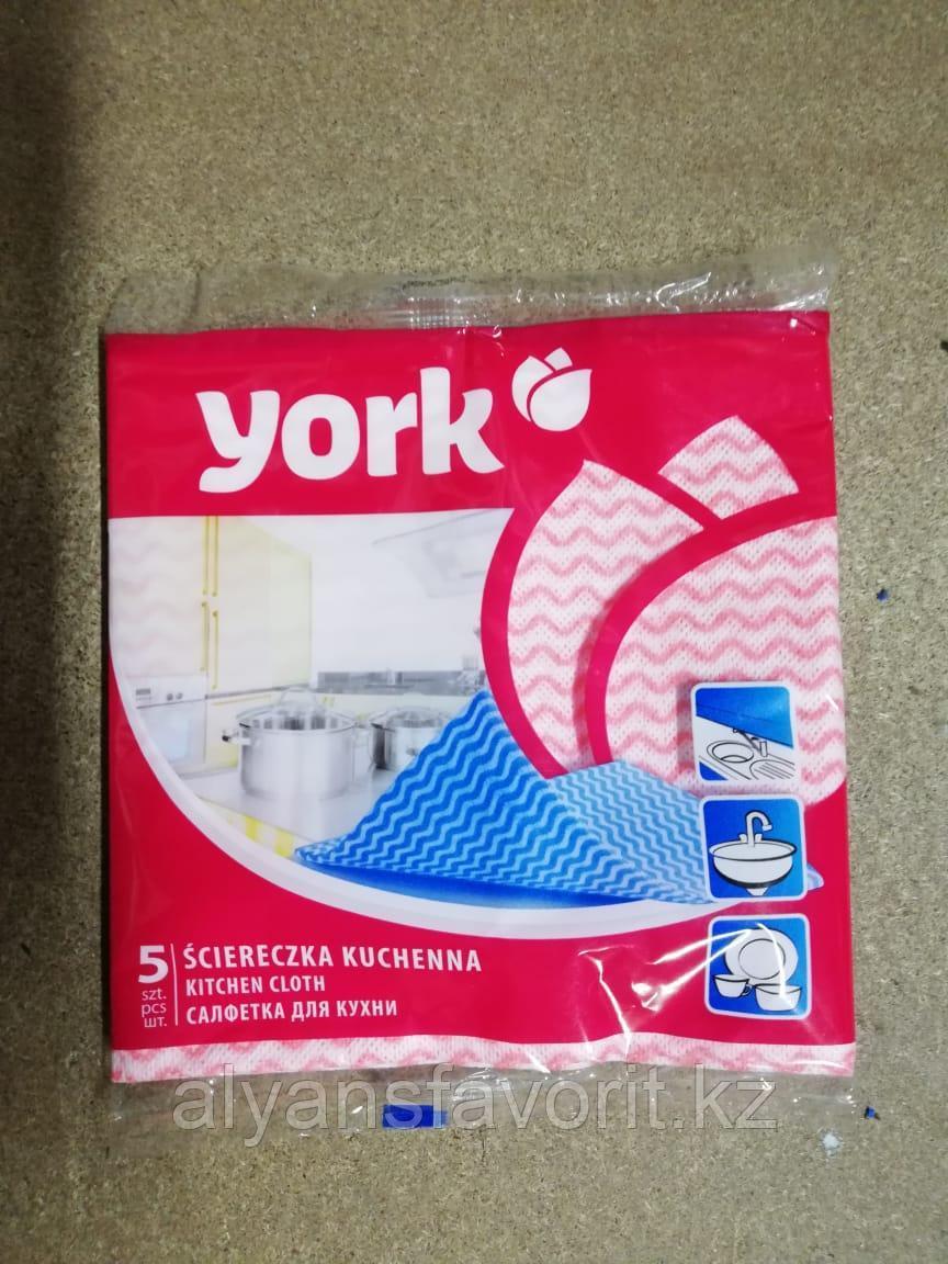 Салфетки для кухни из микрофибры York, 5 штук