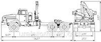 Седельный тягач УРАЛ-4320 с КМУ ИМ-50