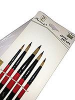 Набор кистей художественных для рисования круглые Artist Brush синтетика 5 шт