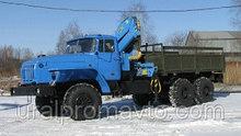 Бортовой автомобиль УРАЛ-4320 с КМУ ИМ-25 за кабиной