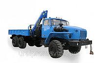 Бортовой автомобиль УРАЛ-4320 с КМУ ИМ-50 за кабиной