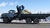 Бортовой автомобиль УРАЛ-4320 с КМУ ИМ-180 за кабиной