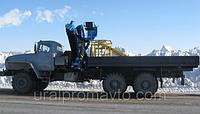 Бортовой автомобиль УРАЛ-4320 с КМУ ИМ-180 за кабиной, фото 1
