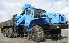 Бортовой автомобиль УРАЛ-4320 с КМУ ИМ-240 за кабиной