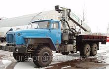 Бортовой автомобиль УРАЛ-4320 с КМУ ИФ-300С за кабиной
