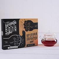 """Набор: чай чёрный 100 г, кофе молотый 100 г """"Воля, характер"""""""