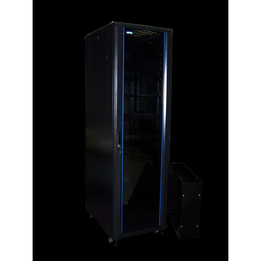 """Шкаф напольный 19"""" 32U, 600x800, двери стекло"""