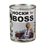 """Носки в банке """"Носки for BOSS"""" (мужские, цвет микс)"""
