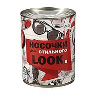 """Носки в банке """"Носочки для стильного LOOKа"""" (женские, цвет микс)"""