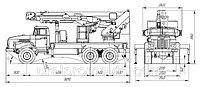 Телескопический автогидроподъемник с гуськом АГП-32Т УРАЛ-4320, фото 1