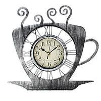 """Часы настенные, серия: Кухня, """"Чашка кофейная"""" хром с напылением, 31х33 см"""