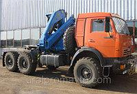 Седельный тягач с КМУ ИМ-150 КАМАЗ 43118