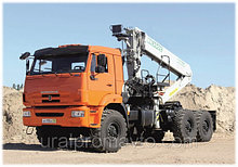 Седельный тягач с КМУ ИФ-300С КАМАЗ 43118