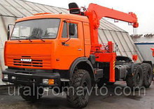 Седельный тягач с КМУ ИТ-180 (тросовый) КАМАЗ 43118
