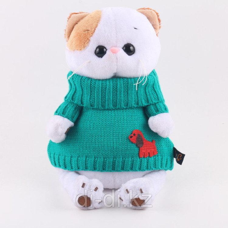 Кошечка Ли-Ли в зеленом свитере
