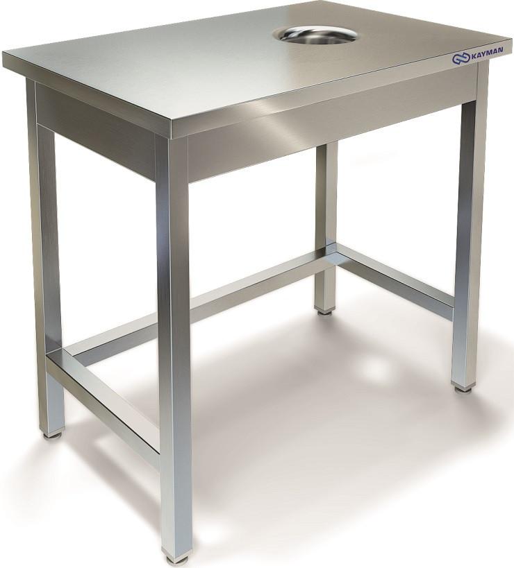Стол центральный для сбора отходов Kayman К-СЦСОН-600/600