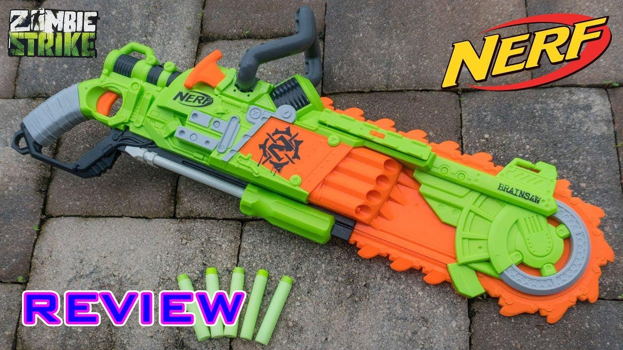 Nerf Zombie Strike Brainsaw Blaster зомби страйк