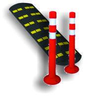 Дорожные сигнальные столбики (пластиковые), искусственные дорожные неровности