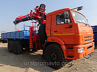 Бортовой автомобиль на шасси КАМАЗ 43118-42 с КМУ SamYang HTS-2076 с буровой навеской