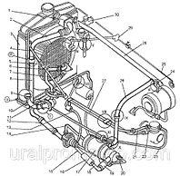 Трубопроводы системы охлаждения ДЗ-98