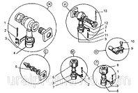 Крепление трубопроводов системы смазки