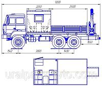 Грузопассажирский автомобиль УРАЛ 44202-3511-80 с КМУ