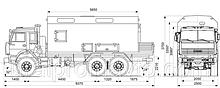 Передвижная авторемонтная мастерская ПАРМ на шасси КАМАЗ 43118 с токарным станком и грузовой площадкой