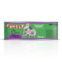 Clan Family консервы для котят (паштет из телятины) 100 гр.