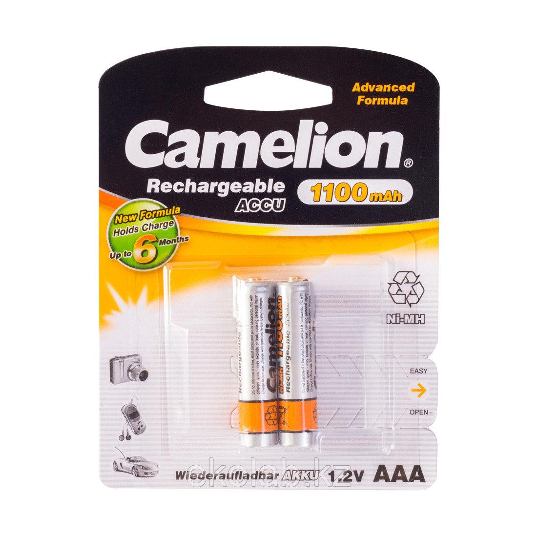 Аккумулятор, CAMELION, NH-AAА1100BP2, мизинчиковый
