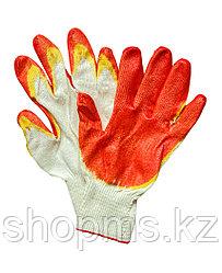 Перчатки вязаные х/б с двойной латексной заливкой наладонника