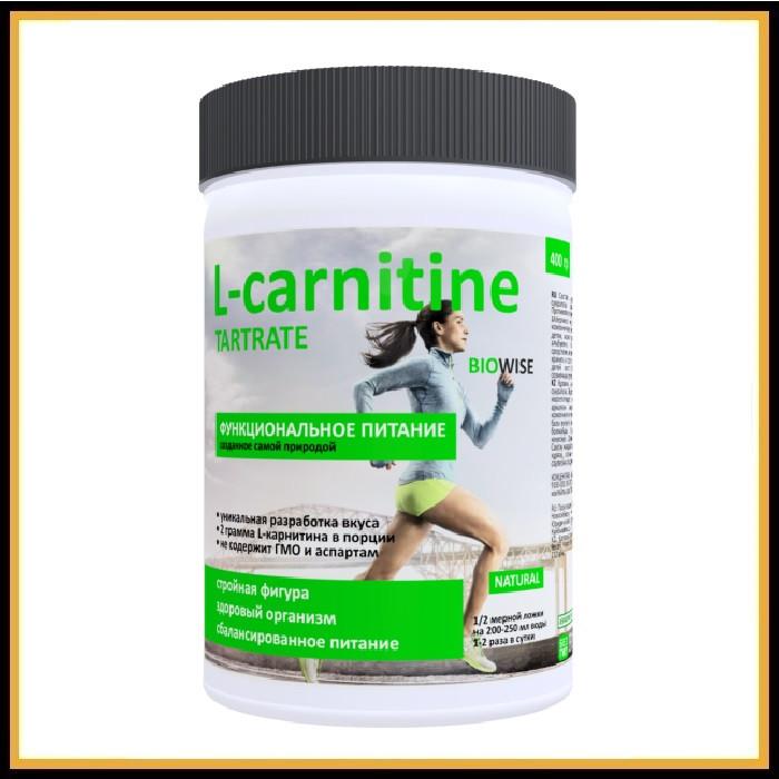BIOWISE L-carnitine Активное похудение + витамин С (Без вкуса) 400 гр