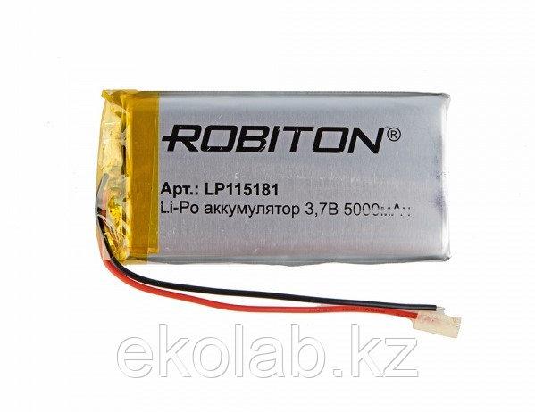 Аккумулятор ROBITON LP115181, Li-Pol, 3.7 В, 5000 мАч, призма со схемой защиты РК1