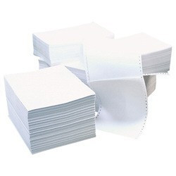 Бумага перфорированная 240х12 (750 комплектов) трехслойная 3 PLY (CB white, yellow, pink)