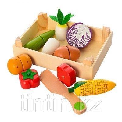 Деревянные разрезные овощи на магнитах, 7 шт, фото 2