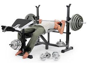 Скамья для жима штанги 1006-A-1 Keep до 100 кг., фото 2