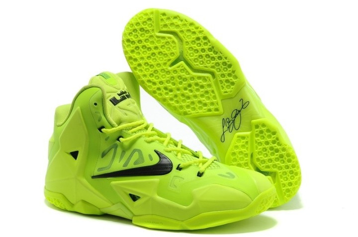 Кроссовки Nike LeBron XI (11) Yellow Elite 2014 (40-46)