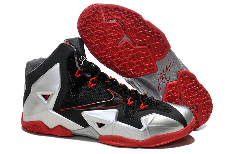 Кроссовки Nike LeBron XI (11) Black Red Elite 2014 (40-46)