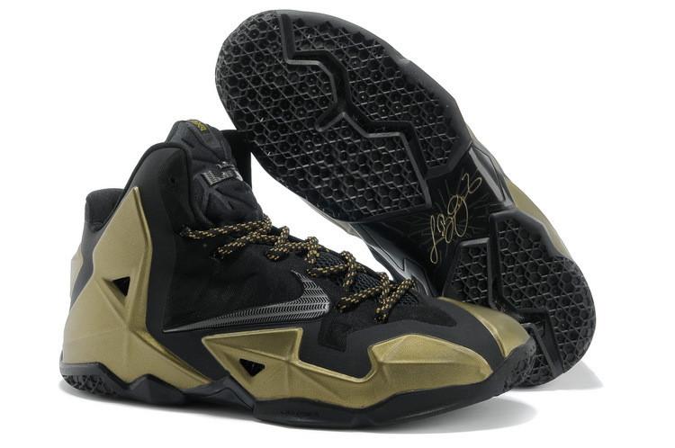 Кроссовки Nike LeBron XI (11) Black Gold Elite 2014 (40-46)