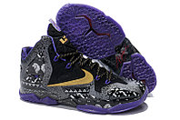 Кроссовки Nike LeBron XI (11) Gold/Purple/Black/White (40-46)
