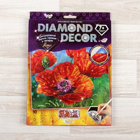 Набор для создания мозаики 'Маки' DIAMOND DECOR, планшетка без рамки