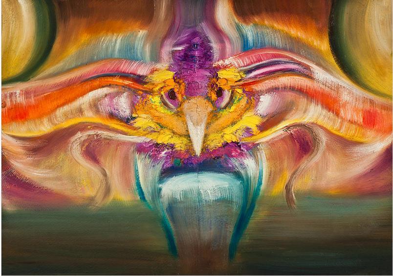 Картины стразами - Экзотическая птица - 40х50см