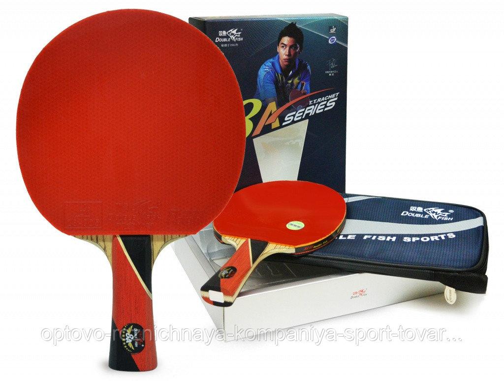 Ракетка для настольного тенниса DOUBLE FISH - 8А-С с чехлом (ITTF)