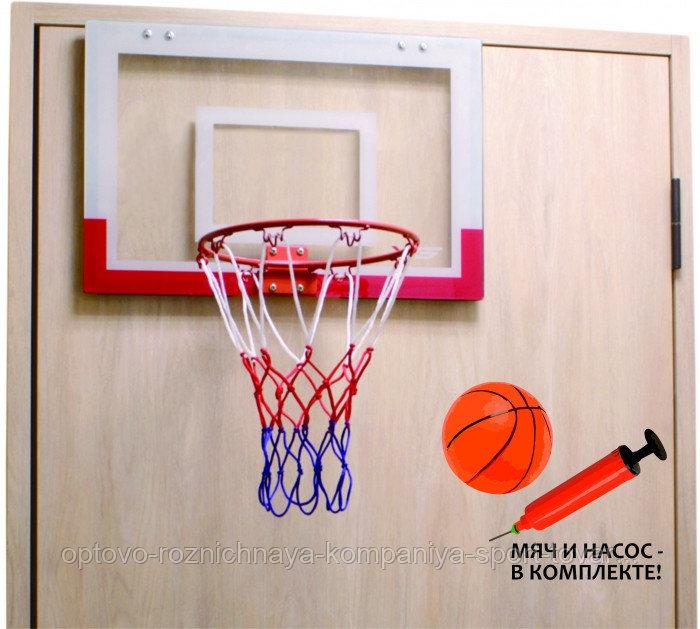 Баскетбольный щит мини с мячом и насосом